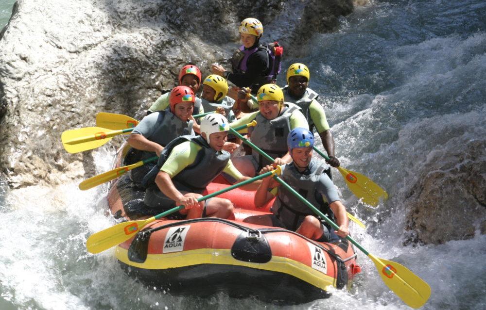 Rafting à La chaudane pension complète pour groupes de jeunes