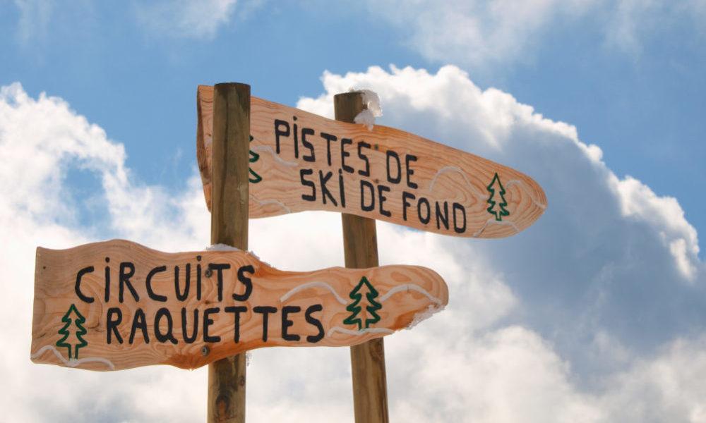 Ski de fond à La chaudane hébergement pour classe de découverte