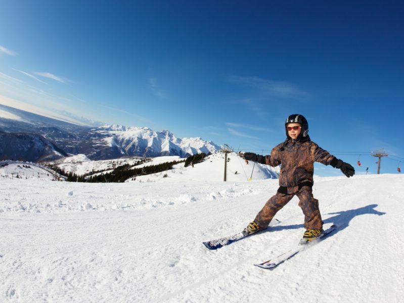 Ski alpin pour groupe de jeunes aux Blacouas